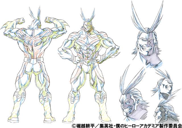 Single Line Character Art : 『僕のヒーローアカデミア』キャラクターデザインは馬越嘉彦が担当 moview|映画・アニメ・特撮