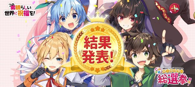 『このすば』キャラクター総選挙